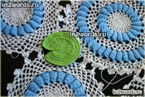 """Лист кувшинки (лотоса) handmade. Вязание крючком. Элемент для """"Лебединое озеро""""."""