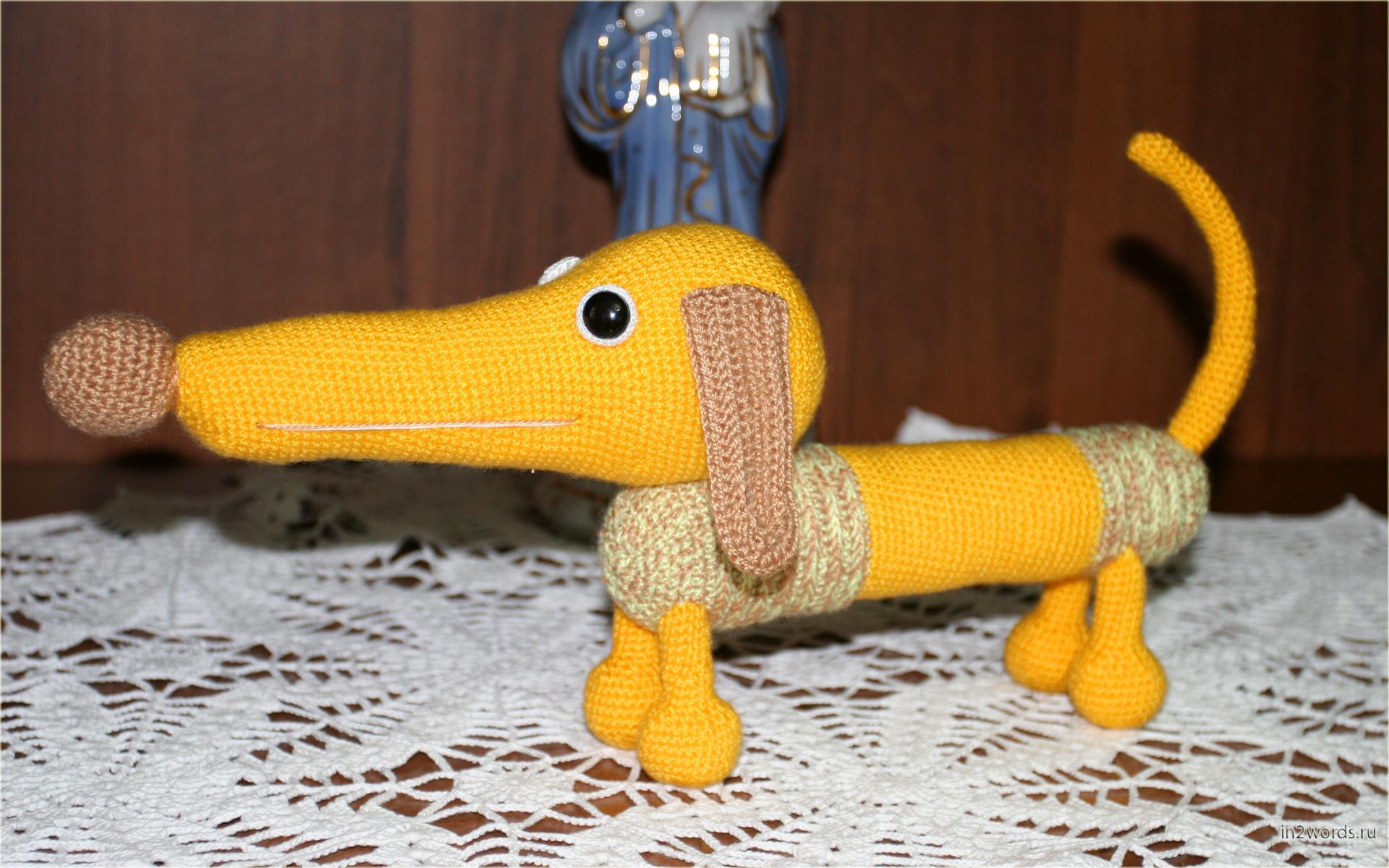 Такса handmade. Вязание крючком. Искусство Амигуруми.