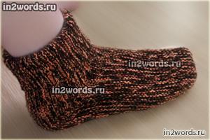 Женские или мужские, очень простые и необычные носки на 2 спицах. Вязание спицами.