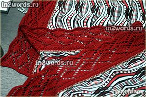 Рулонная ажурная кайма с волнистым краем. Кружево. Вязание спицами.