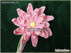 Кувшинка (водяная лилия) handmade. Вязание крючком.