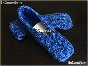 Носки следки спицами. Вязание.