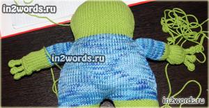 Лягушка-подушка. Авторская игрушка handmade. Вязание крючком и спицами.