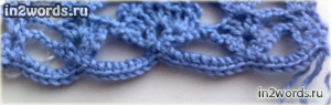Ажурный шарфик с веерами и фестонами. Упрощенный вариант. Вязание крючком.