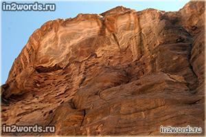 Скалы древней Петры. Город цвета красной розы. Иордания.