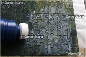 Как выглядит и как пользоваться специальным клеем для пазлов. Чем склеить puzzle для картины.