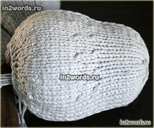 Большой мышонок для сна, игрушка-подушка на двух спицах. Вязание спицами.