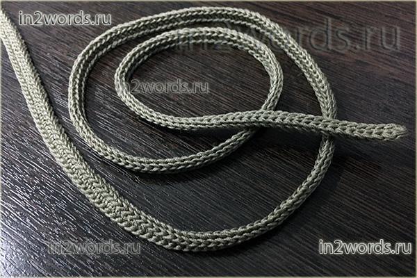 Как связать прочный и гладкий шнур из хлопка. Вязание крючком.
