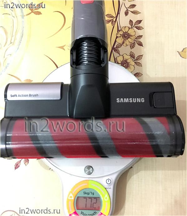 Часть 3 - базовая турбо-щетка, моторизированная насадка для пола с мягким валиком. Опыт использования пылесоса Samsung SS80N8076KC (SS80N8016KL, SS80N8014KR).