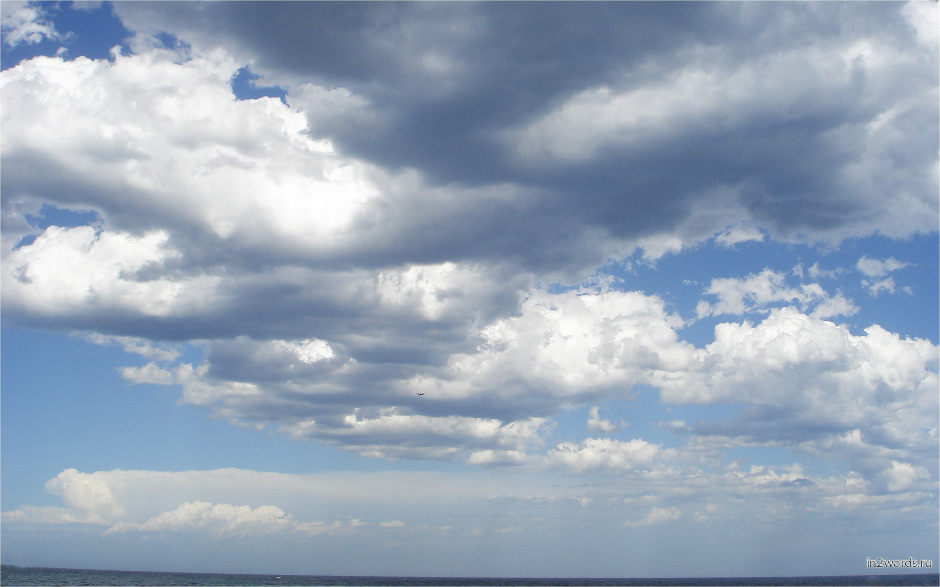 Облака в наступающей буре. Сидней, Австралия. Тихий океан.