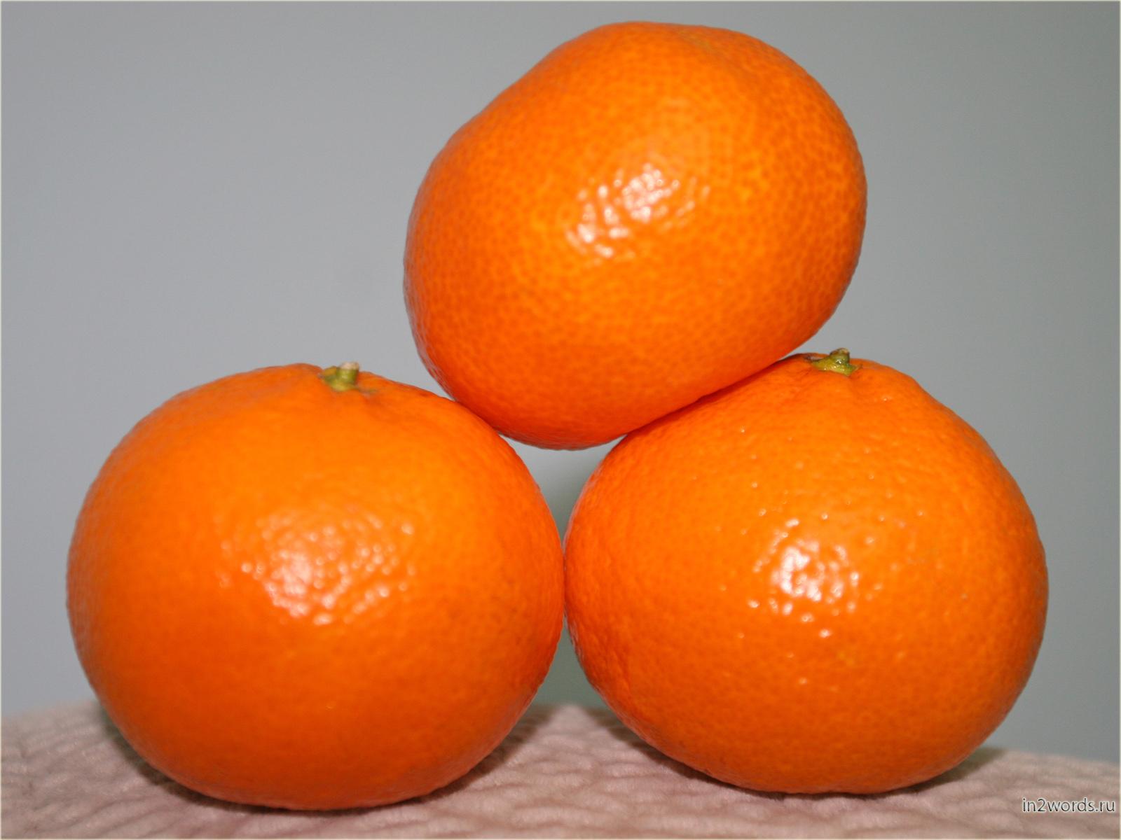 Предновогодние мандарины. HD обои на рабочий стол.