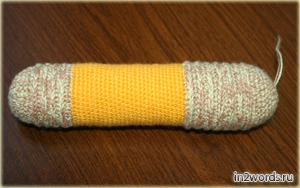 Hecho a mano Dachshund. Crochet. Amigurumi arte.