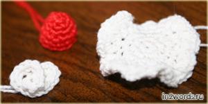 """Пирожное """"Клубника со сливками""""  handmade. Вязание крючком. Искусство Амигуруми."""