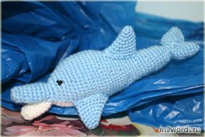 Дельфин handmade. Вязание крючком. Искусство Амигуруми.