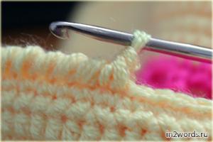 """Как вяжется """"рачий шаг"""", МК. Вязание крючком."""