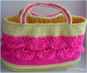Сумочка для девочки handmade. Мода и гламур. Вязание крючком.