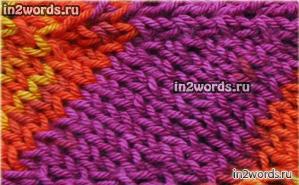 Радужный шарф в стиле Миссони handmade. Вязание спицами и крючком.